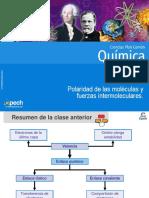 Clase 6 Polaridad de Las Moléculas y Fuerzas Intermoleculares 2015