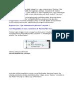 Log Admin Windows 7 Dan Vista