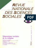 Dimesions Sociales de La Religion
