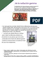 Aplicaciones de La Radiación Gamma