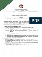 Pengumuman Pendaftaran Balon DPRD Sulbar Pemilu 2019