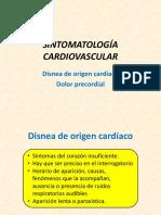 12. Sintomatología Cardiovascular. Disnea de Origen Cardíaco, Dolor Precordial