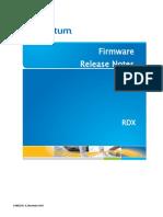 6-68523-01 RevA RDX Firmware Release Notes