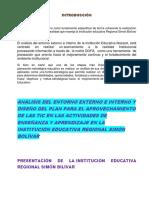 Actividad2.1. ANÁLISIS INTERNO Y EXTERNO DE UNA I.E