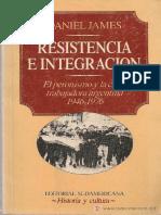 James, Daniel - Resistencia e Integración