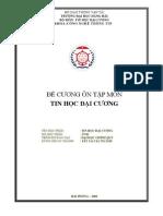 De Cuong on Tap Mon Tin Hoc Dai Cuong