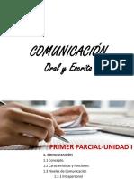 Clase 1 Comunicación Oral y Escrita