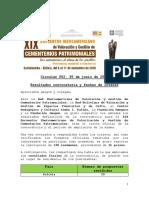 Circular 002 Resultados Convocatoria y fechas de interés XIX Encuentro Iberoamericano de Cementerios Patrimoniales