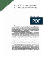 Artigo - A Crítica Da Teoria _ Uma Análise Institucional - José Jobim