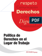 Workplace Rights Policy-spanish