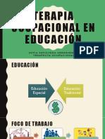 Terapia Ocupacional en Educación