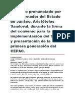 Firma Del Convenio Para La Implementación Del STEM y Presentación de La Primera Generación Del CEPAC