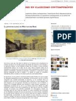 Reflexiones sobre un clasicismo contemporáneo_ La juventud clásica de Mies van der Rohe