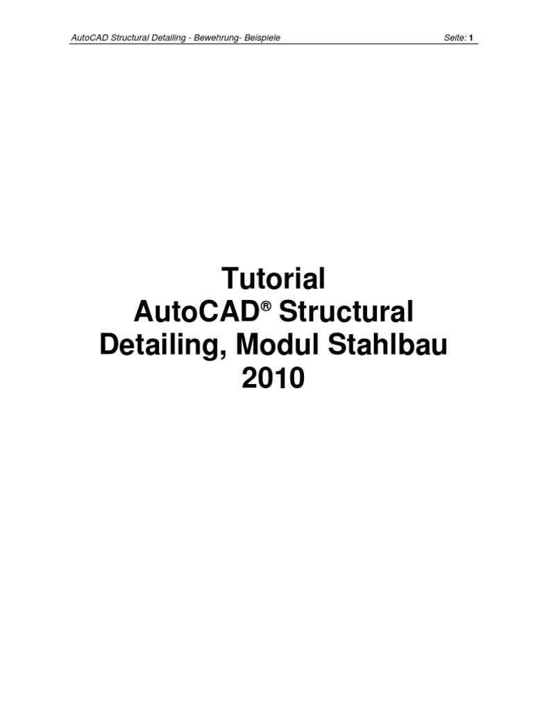 Autocad Structural Detailing 2010 Bewehrung Tutorial