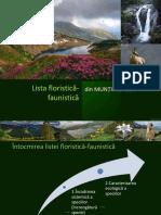 Lista Floristica-faunistica Retezat
