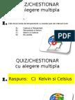 Recapitulare - Quiz Chestionar Cu Alegere Multipla
