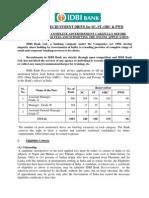 IDBI Bank Recruitment Jobs Notification of Various Staff