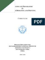 Certificate Programme TDP Curriculum
