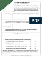 10th STEP Worksheet