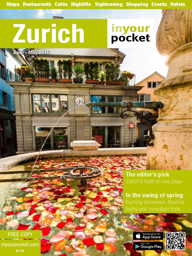 Zurich In Your Pocket Zrich Switzerland Evoucer Mcdonald 40000