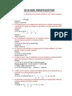 Ejercicios Propuestos de Quimica