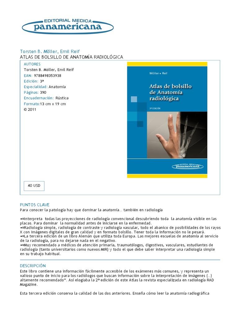 Atlas de Bolsillo de Anatomía Radiológica