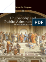 Philosophy and Public-Administration [an Introduction] by Edoardo Ongaro [2017]