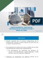 Estudio de Precios Centroamérica. ORDECCCAC. Ing. Guillermo Carazo