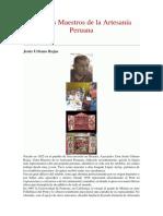 Grandes Maestros de La Artesanía Peruana
