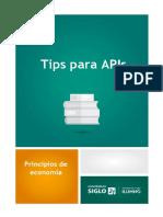 Tips Para Apis m3 y m4 - Principios de Economía