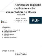 LOG8430-2018.1 - Winter - Plan de Cours