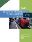 Beneficios Tributarios en El Sector Empresas de Construccion