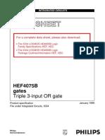 Cmos 4075 Triple or Gate