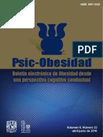 Boletín Electrónico de Obesidad Desde Una Perspectiva Cognitivo Conductual 2016