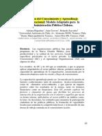 Gestión Del Conocimiento y Aprendizajepaper3
