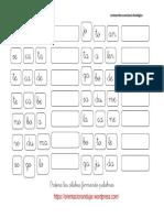 Ejercicios fonológicos de palabras 3