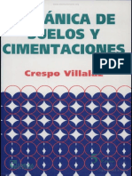 Mecánica de Suelos & Cimentaciones - Crespo Villalaz - 5ta Edición