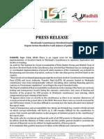 Press Release Westlands