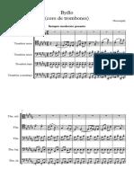 Bydlo (Coro de Trombones) Trabajo - Partitura Completa