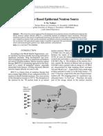 Accelerator Based Epithermal Neutron Source