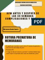 RPM , coriomnionitis,.pptx