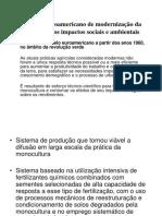 1. O Modelo Euroamericano de Modernização Da Agricultura
