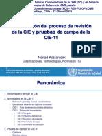 OMS Revision CIE Pruebas CIE11