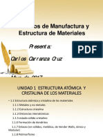 Procesos de Manufactura y Estructura de Materiales