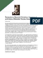 Întemeierea Bisericii Ortodoxe Japoneze şi activitatea Sfântului Nicolae Kasatkin.docx