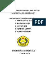 MAKALAH POLITIK