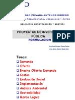FORMULACION PROYECTO DE INVERS. PUBLICA
