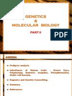 Lecture Handout Genetics & Molecuar Biology Part II