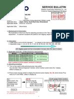 Sk200-6e Arm-In Speed Change Procedure