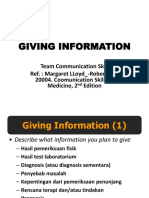 5. Giving Information
